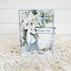 kartka świąteczna 483 - zielone scrapbooking kartki, boże narodzenie