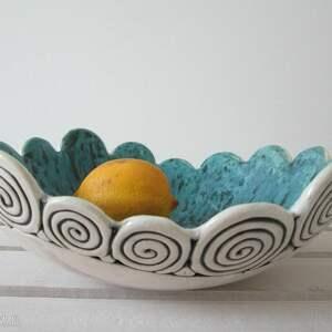 artystyczna miska - ,ceramiczna,miska,dekoracyjna,na-owoce,