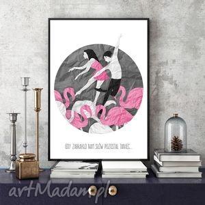 grafika gdy zabraknie słów art print a4, ilustracja, grafika, taniec, dekoracja, a4