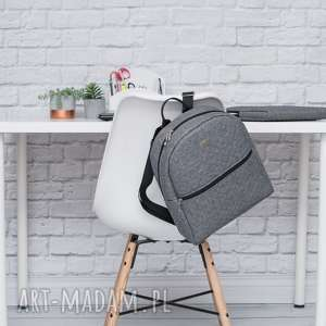 handmade plecaki plecak damski 706 szary melanż