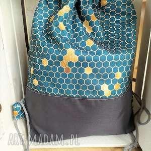 wyjątkowy prezent, plecak worek plaster miodu, worek, plecak, zakupy, spacery