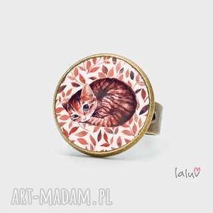 pierścionki pierścionek kotek, prezent, kociak, słodki, kłębek, kolorowy, zwierzak