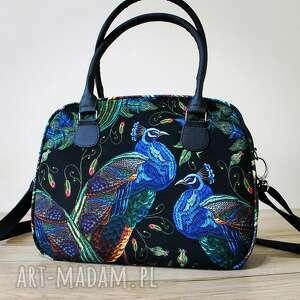 na ramię kuferek - pawie, kufer, elegancka, nowoczesna, prezent, święta