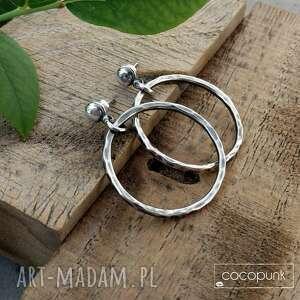 3 cm kolczyki srebrne koła - nowoczesne lekkie - małe koła