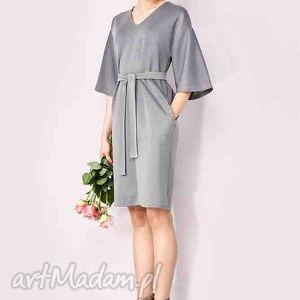 sukienki prosta sukienka z paskiem, sukienka, pasek, potpourri