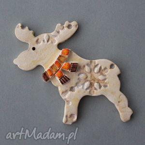 ręcznie wykonane pomysł na świąteczne prezenty rudolfik-magnes