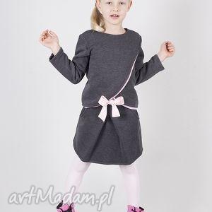 spódniczka ds01 grafit, bawełniana, modna, stylowa dla dziecka