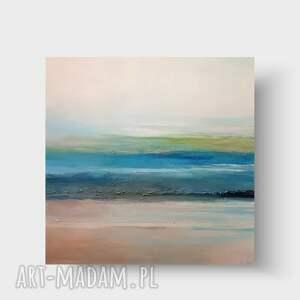 morze-pejzaż-obraz akrylowy 70/70 cm, obraz, kwadrat, akryl, pejzaż, płótno