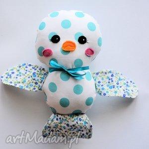ptaszek ćwirek lusia, dziewczynka, maskotka zabawka, przytulanka