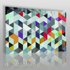 obrazy obraz na płótnie - wzór trójkąty 120x80 cm 22903, trójkąty, geometryczny