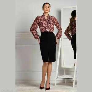 livia clue bluzka chiara francis, z falbaną, elegancka bluzka, print