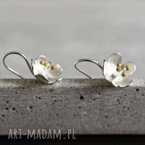 Prezent 925 Srebrne kolczyki Kwiaty , kwiaty, kwiat, natura, srebro, srebrne