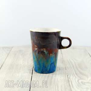 Kubek niebiesko-brązowy, kawa, herbata, do-kawy, do-herbaty, do-pracy