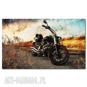 obraz motocykl 1 - 90x50cm na płótnie motor, motocykl