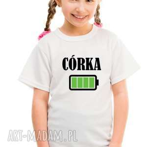 koszulka dla rodziny dziecięca - córka bateria, niej, dziecka
