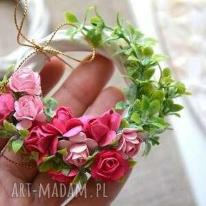dekoracje mini wianek, kwiaty, miniwianek, wiklina