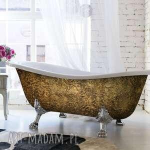 dom glam goldenna - artystyczna ekskluzywna wanna ze strukturą