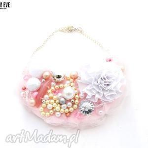 baby doll naszyjnik handmade - naszyjnik, róż, różowy, pudrowy, blady