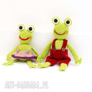 unikalny, żabki, maskotki, żaba, żabka, przytulanka, dziecko, szydełko