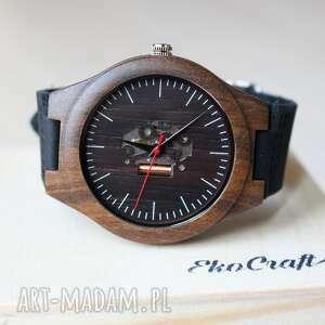 handmade zegarki drewniany zegarek skeleton