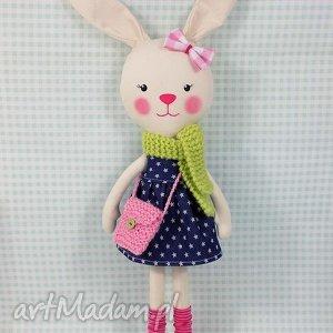 króliczka marcelina - króliczka, zabawka, przytulanka, prezent, niespodzianka
