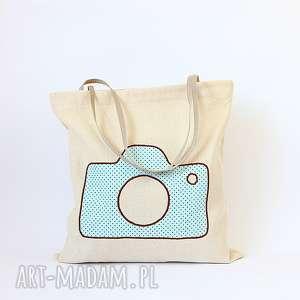 rekaproduction eko torba na zakupy z miętowym aparatem nie tylko dla fotografki