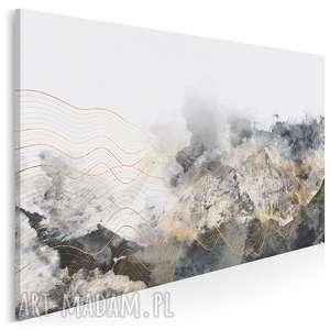 Obraz na płótnie - ABSTRAKCJA FALE 120x80 cm (60701), fale, abstrakcja, nowoczesny