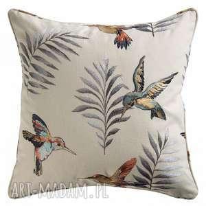 poduszka henna haft, poducha, poduszka, bawełna, palma, ptaszki, koliber