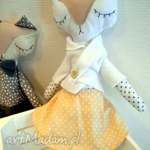 mrs lisek - mia lou - lalka, maskotka, lala, lis, lisek, przytulanka