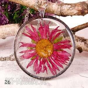 naszyjnik xxl z suszonymi kwiatami terrarium tiffany, naszyjnik, duży