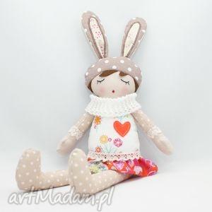 lala przytulanka florka śpioszka, 46 cm, lala, lalka, przytulanka, prezent, handmade