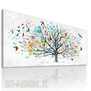 obraz drukowany na płótnie - świat z papieru - abstrakcyjne drzewo 150x60cm 02480