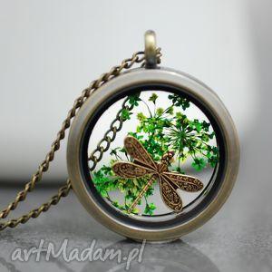 waŻka medalion - medalin, ważka, miedź, kwiat, natura, eko