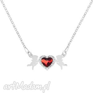 celebrate - cupid with heart - necklace - ,amorek,serce,swarovski,walentynki,celebrytka,