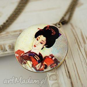 ♥ geisza ♥ medalion z brązu - zdjęcia, japonia