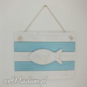 obrazek znad morza, obraz, obrazek, ryba, drewniany, morze, morski