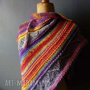 the wool art asymetryczna chusta bohostyle, chusta, szal, boho, kolorowa, naprezent