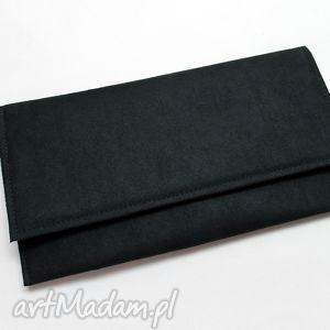 handmade kopertówka - zamsz czarny