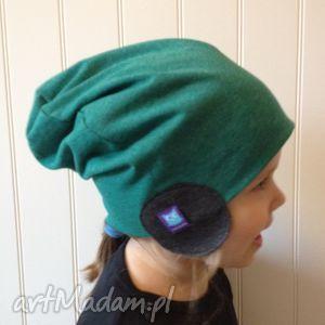 czapka pilotka zielona, rozmiar l, pilotka, czapka, czapa, dresówka