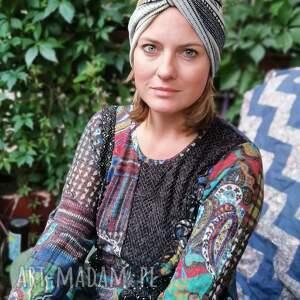 turban uniwersalny dzianinowy polecam box w1, turban, folk, rower, etno, boho