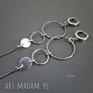 długie kolczyki - srebro i, srebro, oksydowane, kolczyki, długie