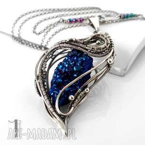 constellatio ii srebrny naszyjnik z kwarcem tytanowym, prezent, srebro