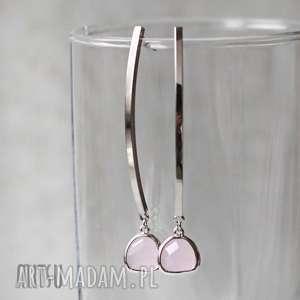Iced Pink Addict, kryształ, długie, proste, eleganckie, pudrowe, nowoczesne