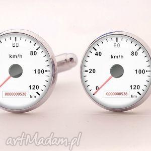 prędkościomierz - spinki do mankietów, męskie, prezent
