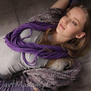 ręcznie wykonane szaliki wygodny dzianinowy naszyjnik zamotka cado kolor fioletowy