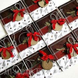 zestaw 10 świątecznych kartek, kartka, scrapbooking, święta, kartki, gwiazdka