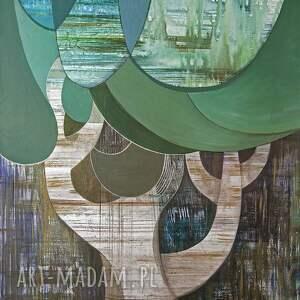 obraz akryl na płótnie 100x70 cm - drzewo deszczowe, obraz, ręcznie malowany
