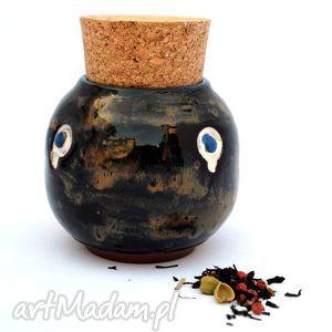 ceramika pojo viiia nr 153, pojemnik, naczynie, ceramika, sypkie, spożywcze, unikat