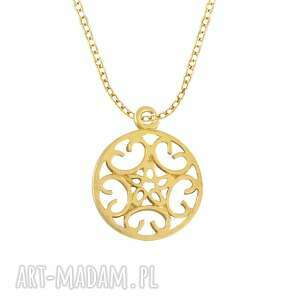 celebrate - rosette - necklace g - ,roseta,celebrytka,