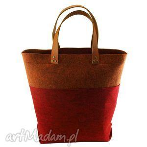 oryginalny prezent, royal trend shopper bag melanż, royaltrend, shopperbag, filc